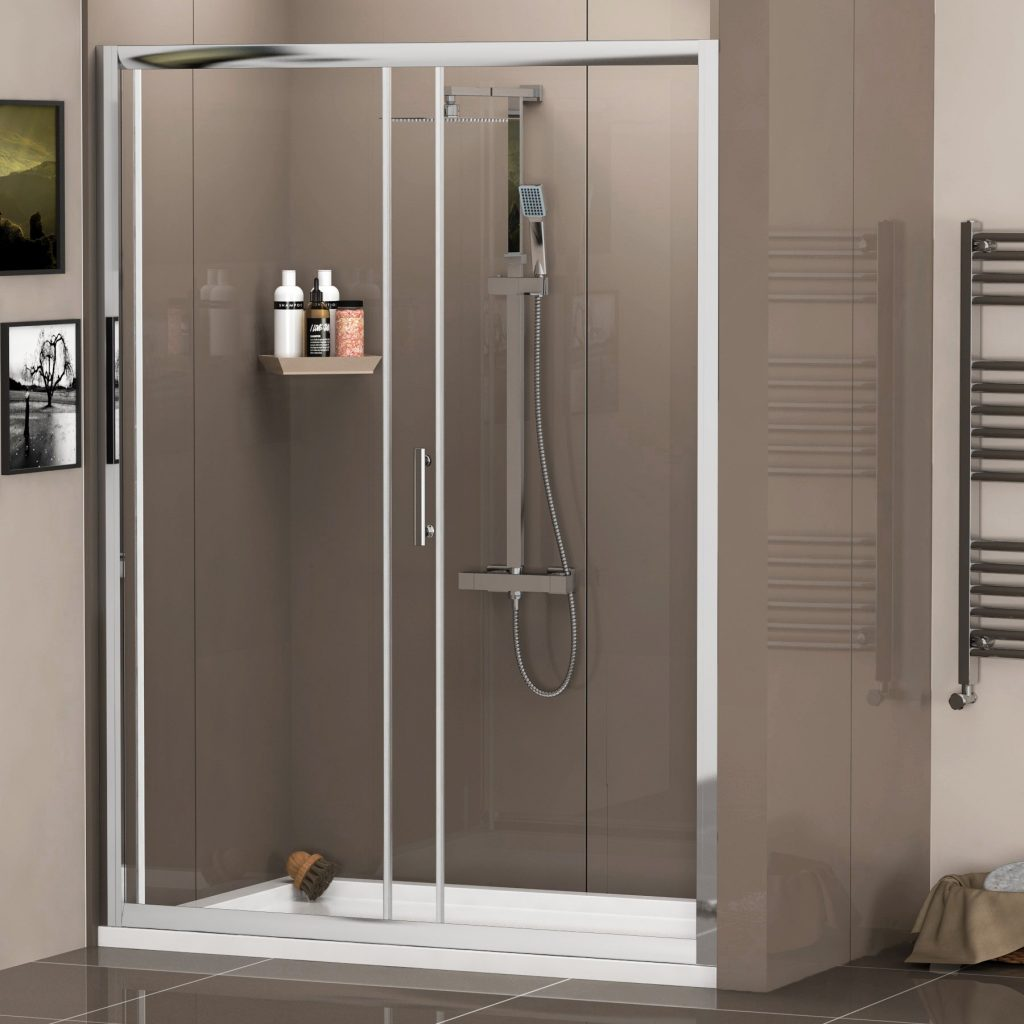 A shower cubicle sliding door is the creative solution for the homeowners | Great Articles