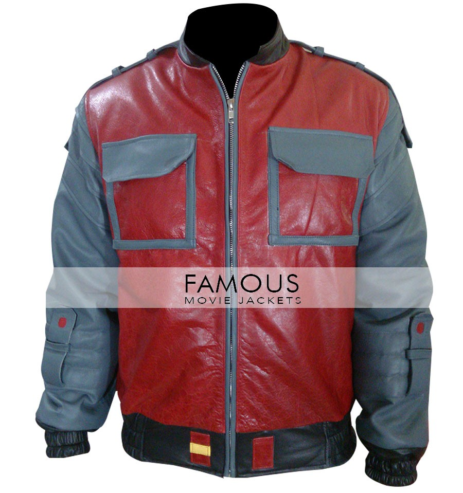 Back to the Future II Michael J. Fox Jacket - Designer Leather Jackets For Men's And Women's - Buy Leather Jackets & Coats - USA/UK