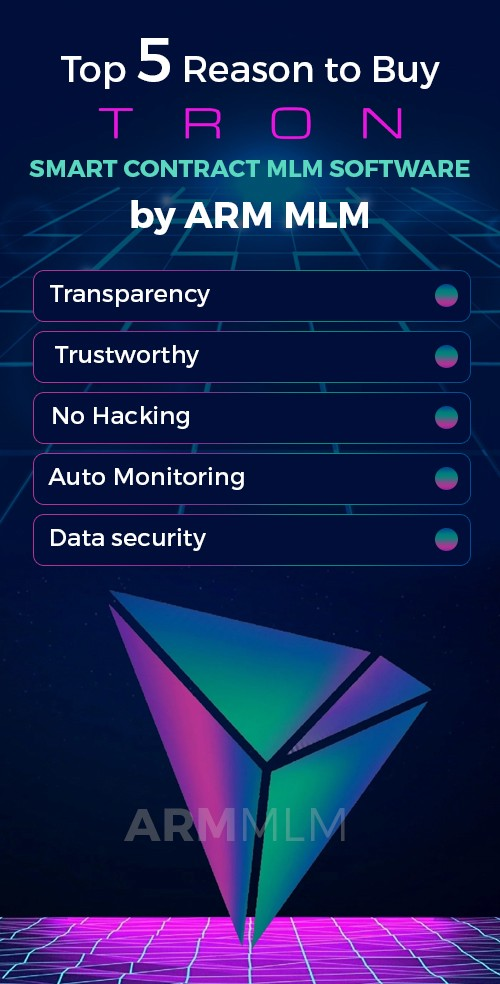 Top 5 Reasons to Buy - Smart contract MLM software Development on Tron!   by ARM MLM Software   Sep, 2021   Medium
