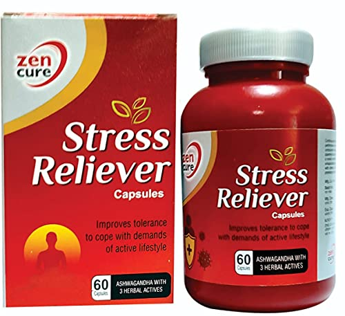 STRESS RELIEVER CAPSULES AYURVEDA & ANXIETY RELIEF & ACTIVE MIND - 60 VEGETARIAN CAPSULES » Health Tips in Marathi