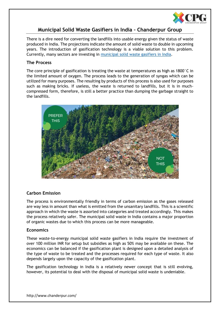 PPT - Municipal Solid Waste Gasifiers in India PowerPoint Presentation - ID:10918705